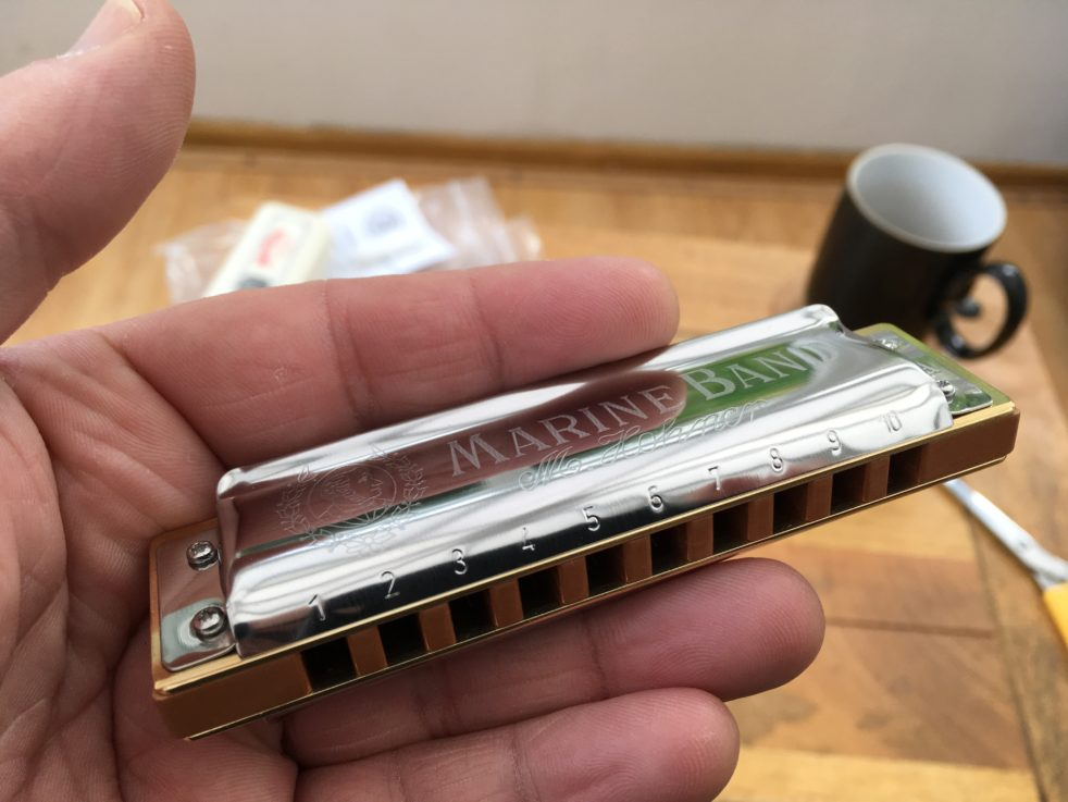 Sugar Cain Custom Marine Band Harmonica